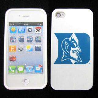 Apple iPhone 4 4S 4G Duke Blue Devils Rubber Silicone Skin Case Phone