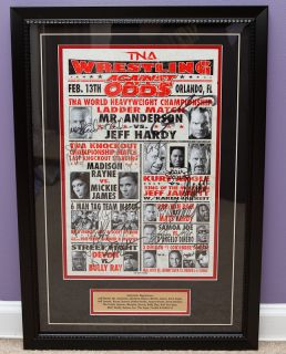TNA Impact Wrestling Against All Odds Autographed Framed Lineup Card