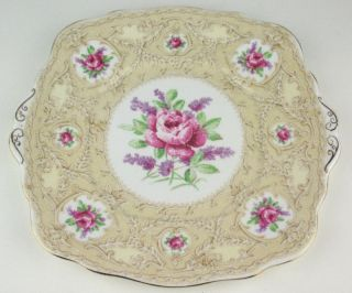 Cake Plate Royal Albert Crown China Devonshire Lace