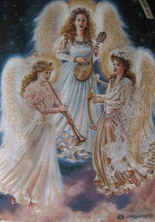 Dona Gelsinger Choir of Angel Jaquard Woven Tapestry Wall Hanging Made