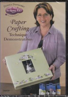 Donna Dewberry in Home Art Paper Crafting Technique Demonstration DVD