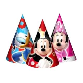 Mickey Mouse Donald Duck Birthday Party Supplies 6X Cone Hats