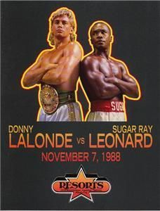 Sugar Ray Leonard vs Donny Lalonde Resorts Atlantic City Boxing