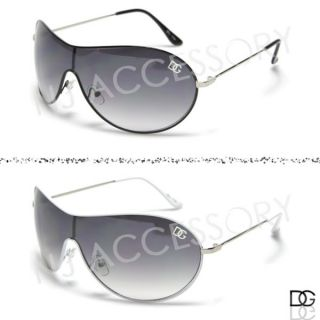 DG Eyewear Metal Fashion Aviators Designer Retro Mens Sunglasses White