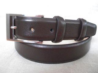 Donald J Trump Mens Brown Genuine Leather Dress Belt Sz 36
