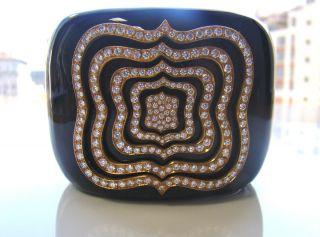 DONALD HUBER Onyx Diamond 18K Yellow Gold Cuff Bracelet Retail 45 000