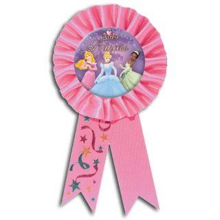 Disney Princess Garden Pink Party Prize Award Ribbon Badge