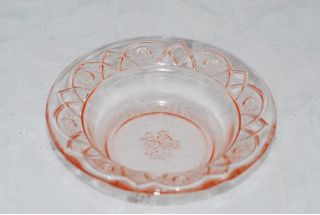 Federal Glass Rosemary Pink 5 inch Fruit Berry Bowl Bowls