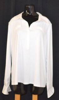 Doncaster Size 1W White Long Sleeve Shirt