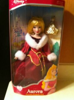 Disney 2003 Aurora Porcelain Doll with Keepsake Ornament by Brass Key