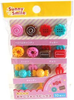 New Bento Lunch Box Accessory Sweet Donuts Candy Choco Cupcake Topper