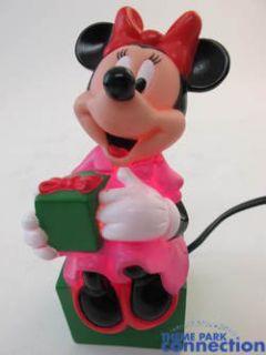 Disney Vintage Minnie Mouse Holiday Light Up Figurine Christmas