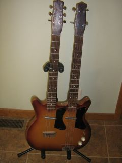 1964 Danelectro Double Neck Guitar Bass