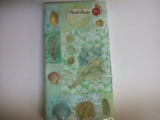 Sea Treasures Seashells Paper Guest Towel Napkin Use for Decoupage