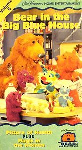 VHS BEAR IN THE BIG BLUE HOUSE PICTURE OF HEALTH plus MAGIC IN THE