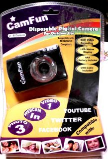SET OF DISPOSABLE DIGITAL CAMERA 300K PIXELS 300 K PHOTO WEB CAMERA