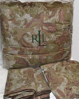 Ralph Lauren Hayden Paisley Houndstooth Queen or King Comforter Set