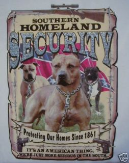 Dixie Pitbull Southern Homeland Security Rebel Shirt