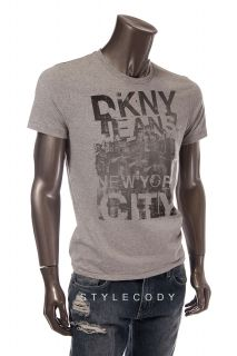 DKNY Jeans New Mens New York City Graphic T Shirt Gray Size s