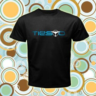 Dj Tiesto Trance Vintage Logos Music DJ Men Black T shirt tee size S