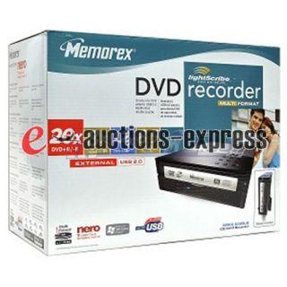 Memorex 20x Lightscribe DVD CD External Reader Drive