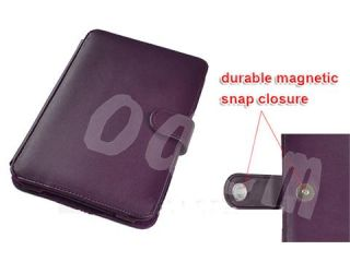 100% Brand New Purple Leather Case Cover for  Kindle 3 3G WiFi