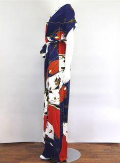 Diane Von Furstenberg Print Wrap Maxi Dress Sz 4 at Socialite Auctions