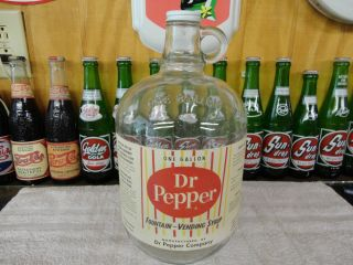 DR PEPPER RARE CANDY STRIPE SODA FOUNTAIN SYRUP PAPER LABEL 1 GALLON