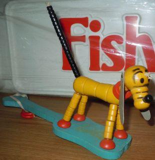 Rare War Version 1943 Pluto Pop Up Disney Vintage Fisher Price Toy