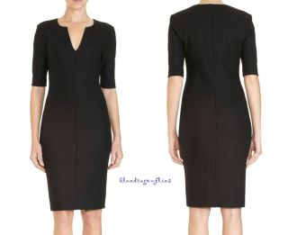 Diane Von Furstenberg $385 Black Aurora Wool Dress 10