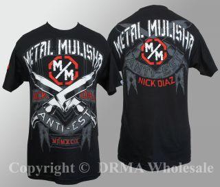 Authentic Metal Mulisha Nick Diaz Blades Walkout T Shirt s M L XL XXL
