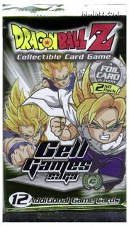 Dragon Ball Z Trading Card Game Cell Games Saga Booster Pack