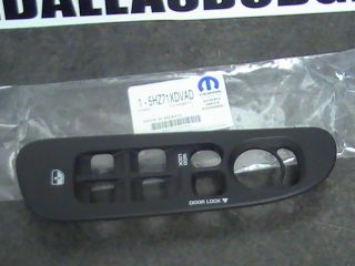 Dodge Ram truck drivers door panel window switch bezal Mopar