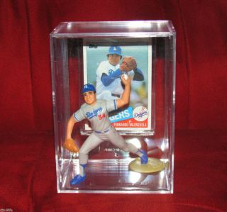 Los Angeles Dodgers 34 Fernando Valenzuela Action Figure Card Keepsake