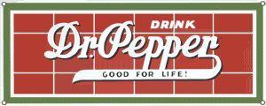 Drink Dr Pepper Vintage Porcelain Steel Magnet Soda USA