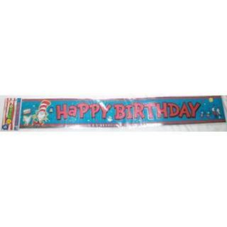 Dr Seuss Cat In The Hat Happy Birthday Banner Official Movie