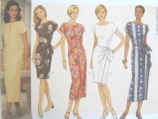 Misses Dress Sewing Pattern Butterick 4436 Easy New