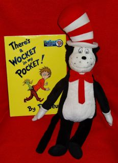 Dr Seuss 22 Cat in The Hat Doll and Book Wocket in Pocket Kohls Cares