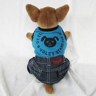 BL Overall Pet Dog Jumpsuit Apparel Clothes Chihuahua M