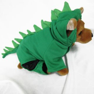 Dinosaur GR Costume Pet Dog Clothes Apparel Chihuahua M
