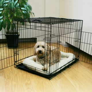 42 Folding Dog Crate w Wire Divider Large Collapsible Metal Puppy Pet