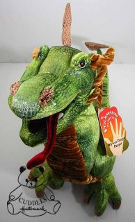 Wyvern Dragon Hand Puppet Folkmanis Plush Toy Stuffed Animal Green