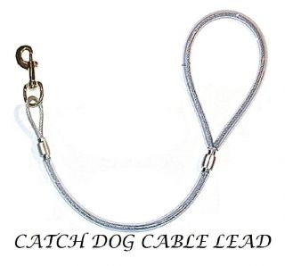 Hunting Heavy Duty CABLE BULL DOG LEAD Hunting Boar Catch Dog Supplies