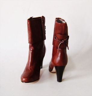 Dolce Vita Webber Ladies Marrone Italy Nappa Ankle Boots Shoes Size