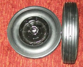 10 Solid Rubber Dolly Wheels 5 8 Center Hole Steel Wheel