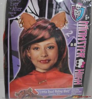 High Clawdeen Wolf Child Costume Wig Dress Up Fancy Dress