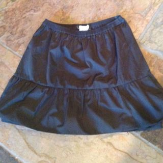 Crew Crewcuts Girls Holiday Skirt Dressy Charcoal Grey Black 10 Medium