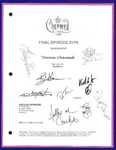 CHARMED SCRIPT FOREVER CHARMED FINAL SIGNED 9X RPT ALYSSA MILANO, ROSE
