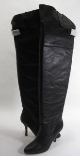 Dolce Vita Womens Braeden High Heel Over The Knee Boot Black Leather