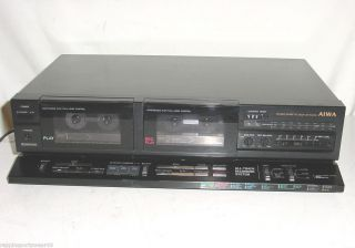 Aiwa Ad WX180 Dual Cassee Deck Player Recorder Vinage